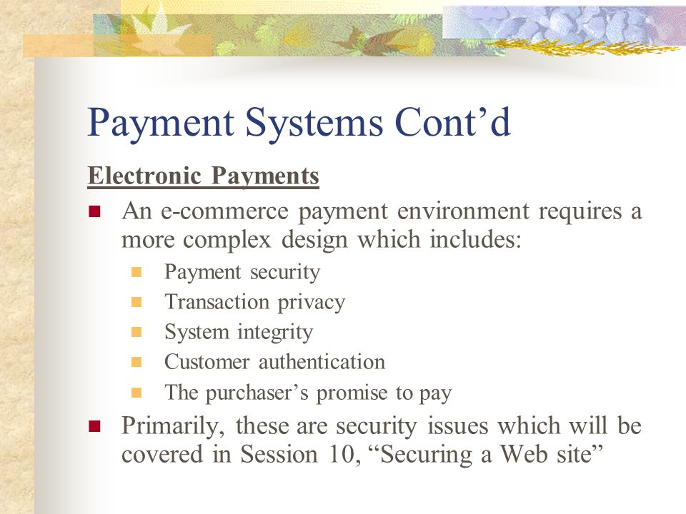 Session 7 Processing Payments On Line And The Fulfilment Phase Ppt Download
