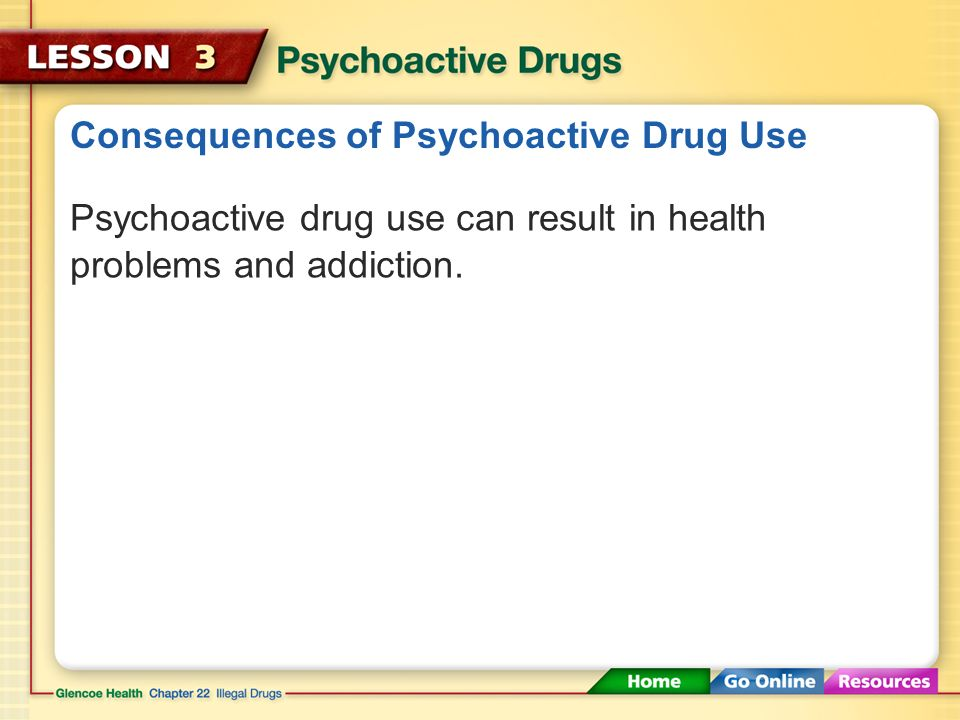 Consequences of Psychoactive Drug Use