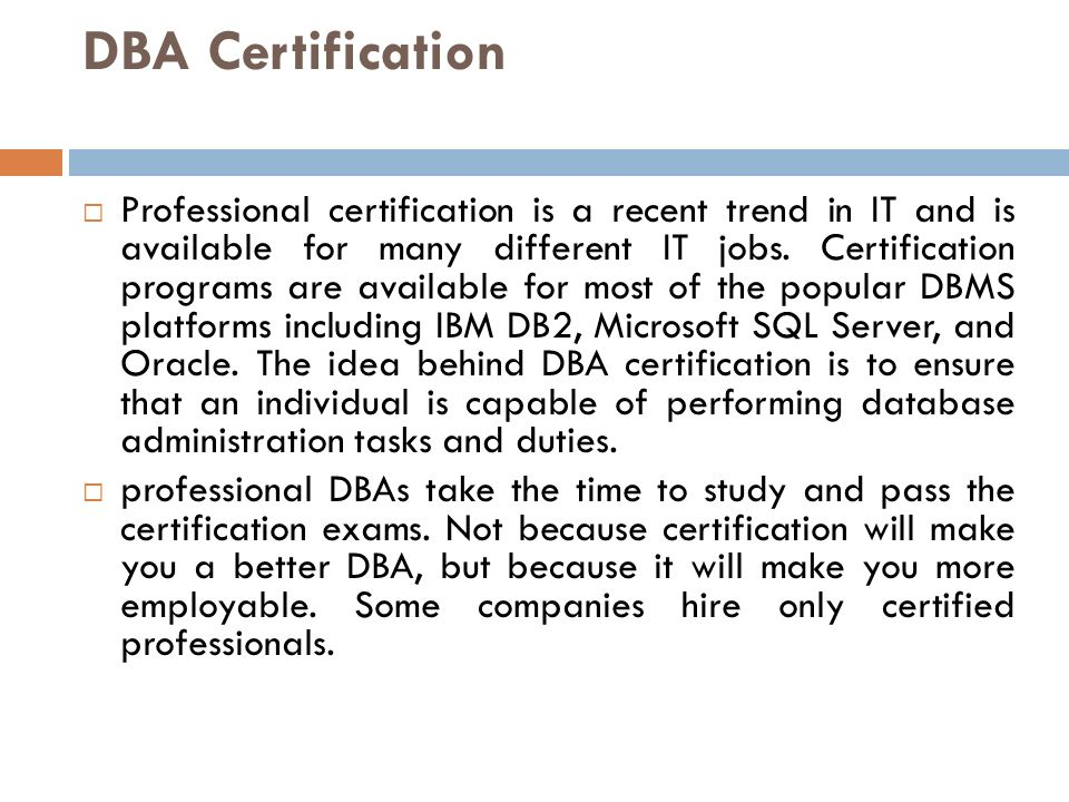 Chapter 1 What Is A Dba Ppt Video Online Download