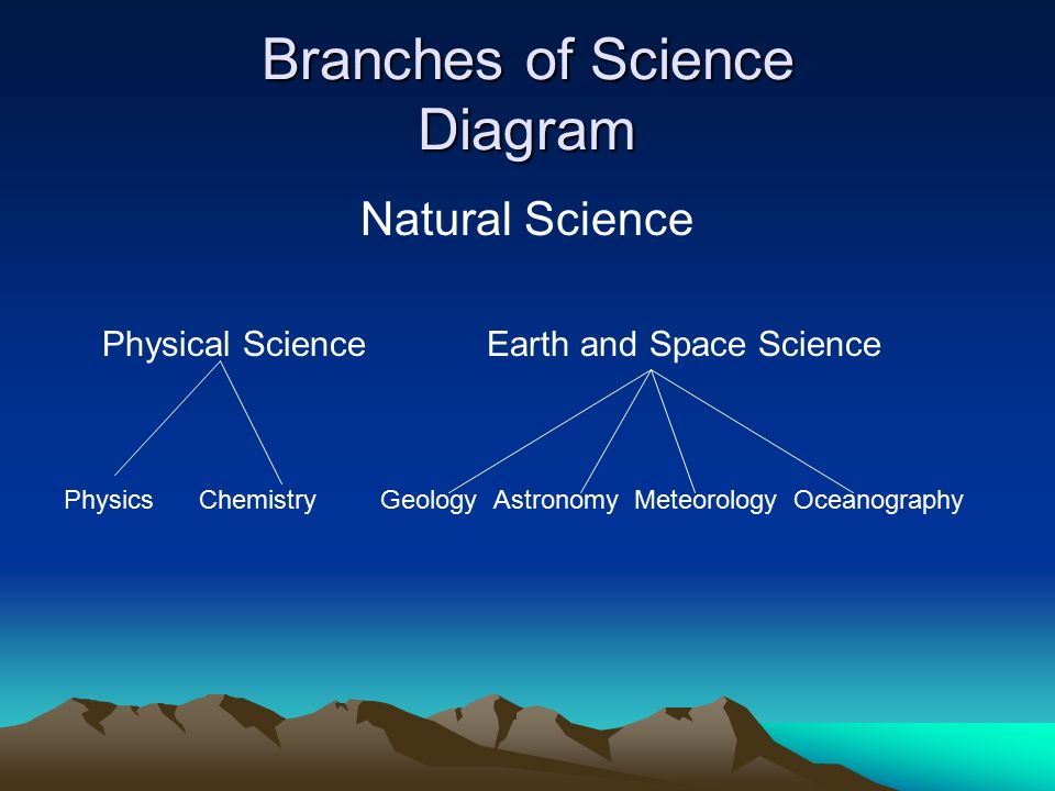 main branches of science