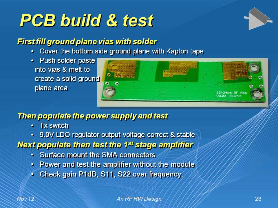 An RF Analog Design from Concept to first Prototype - ppt