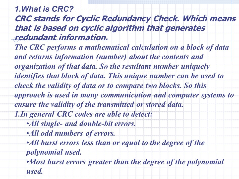 41 What Is Crc