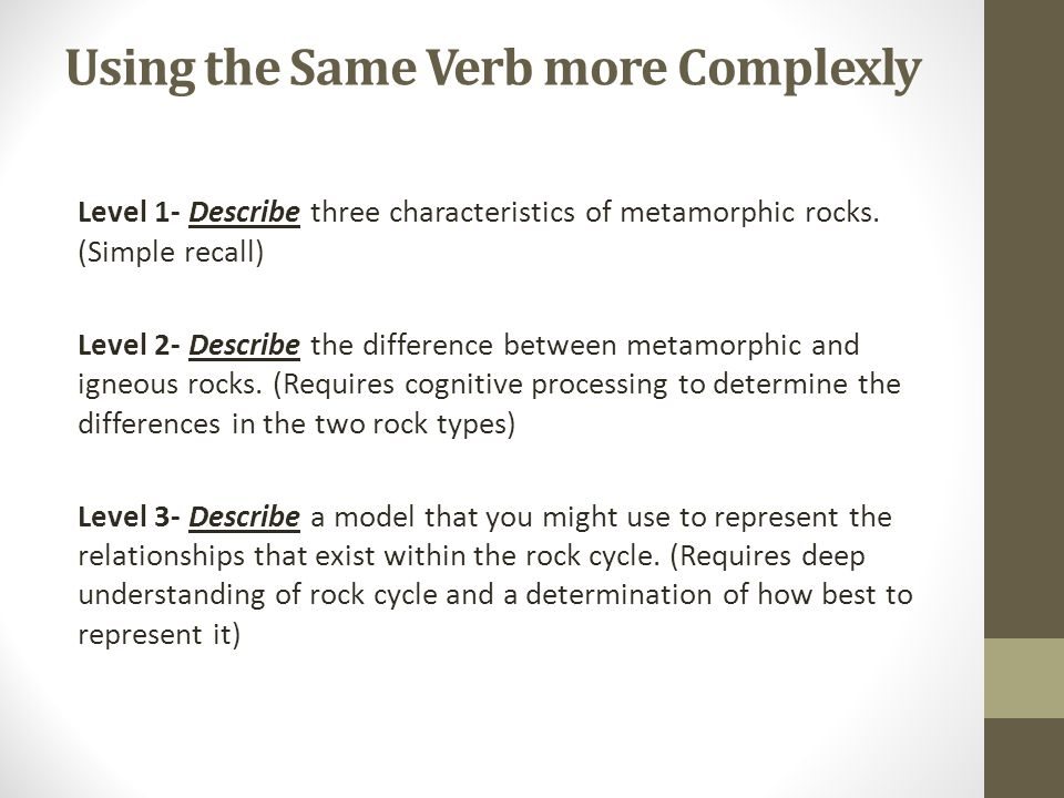 Using the Same Verb more Complexly