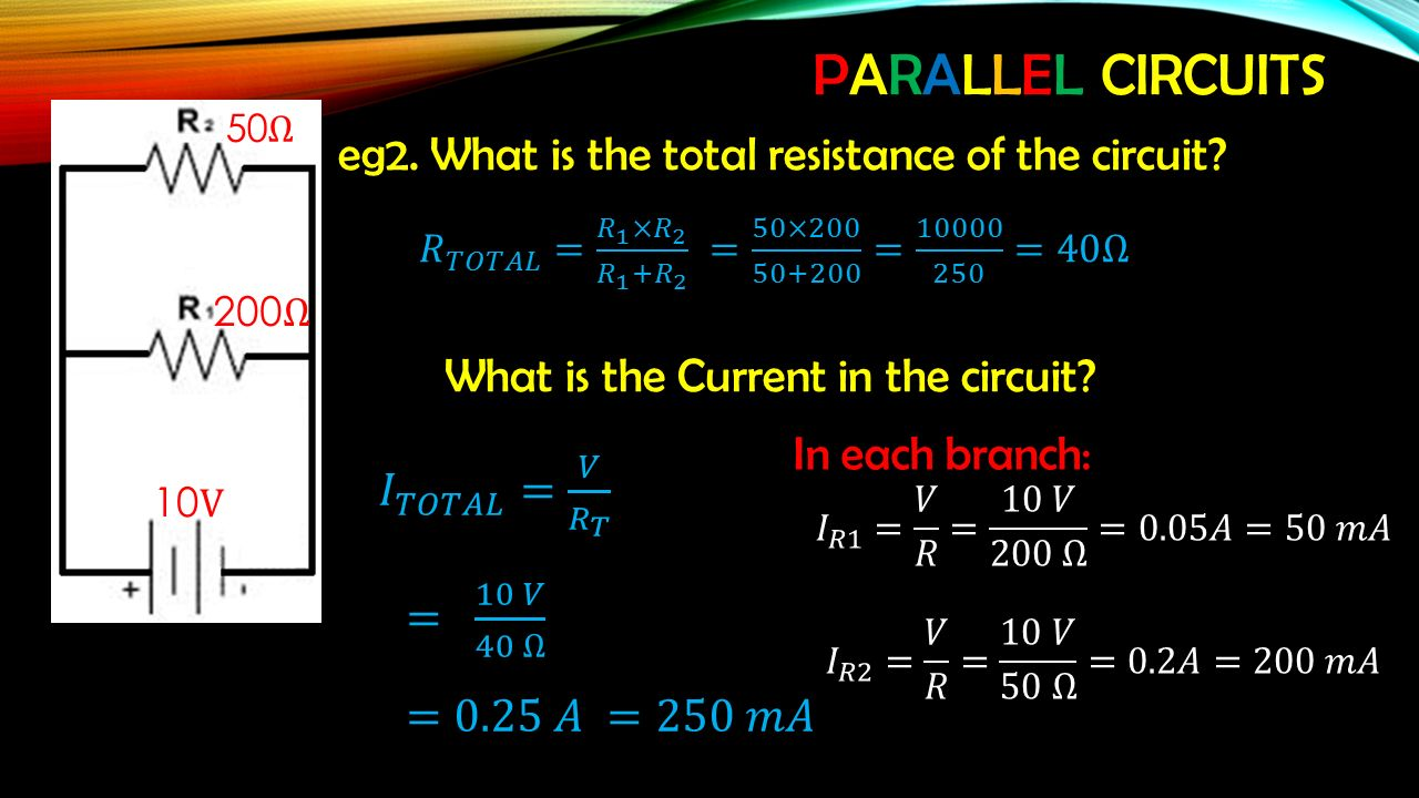 Electricity Unit 1 Physics Ppt Download What Is The Total Resistance In Circuit Parallel Circuits Eg2 Of