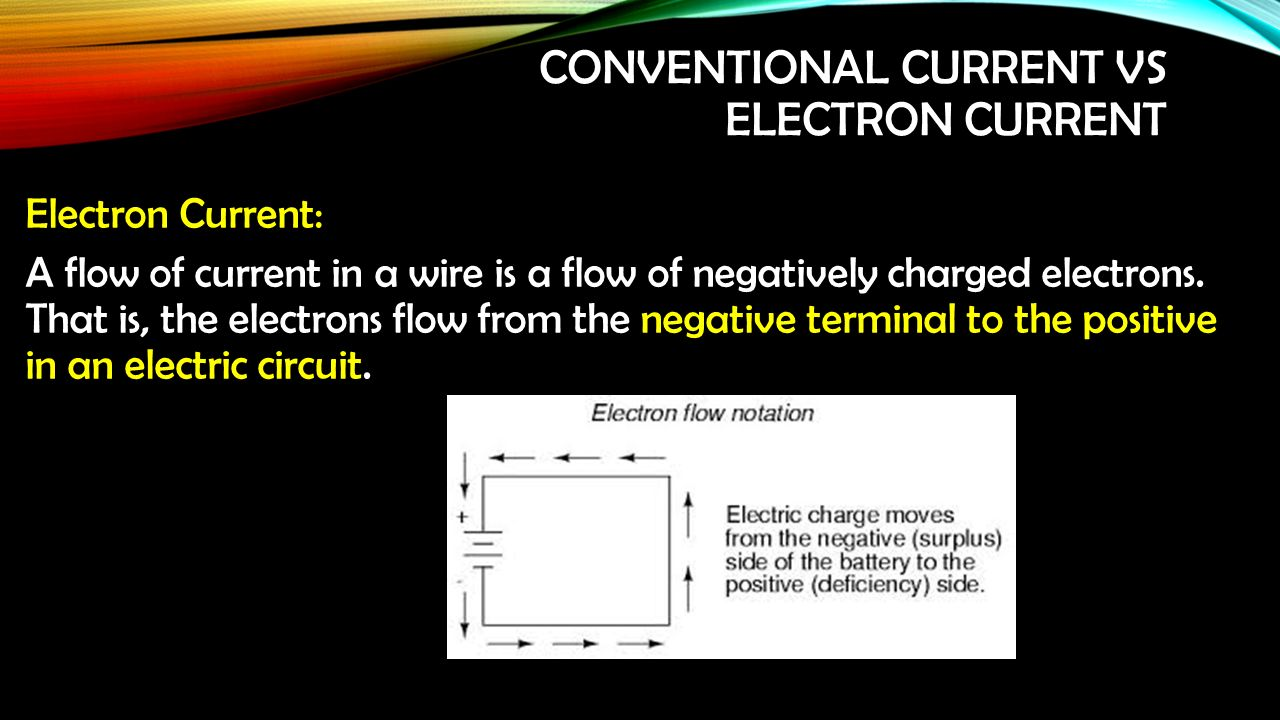 Electricity Unit 1 Physics Ppt Download Circuit Diagram Electron Flow That Is The Electrons From Negative Terminal To Positive In An Electric