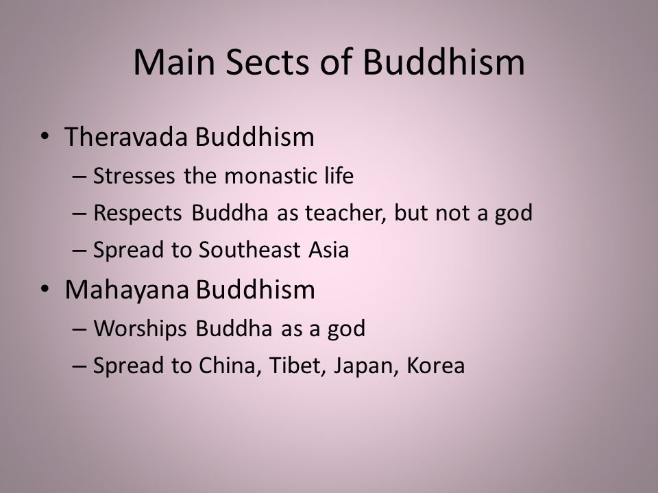 what are the two sects of buddhism