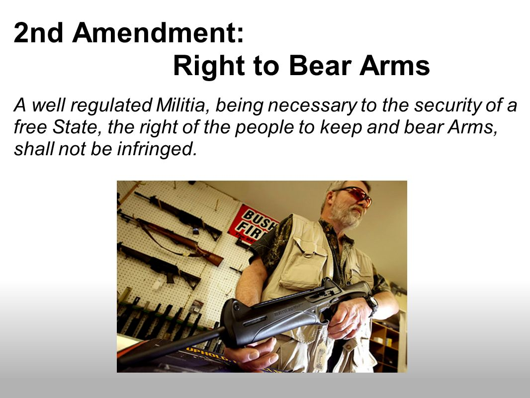 2nd Amendment: Right to Bear Arms