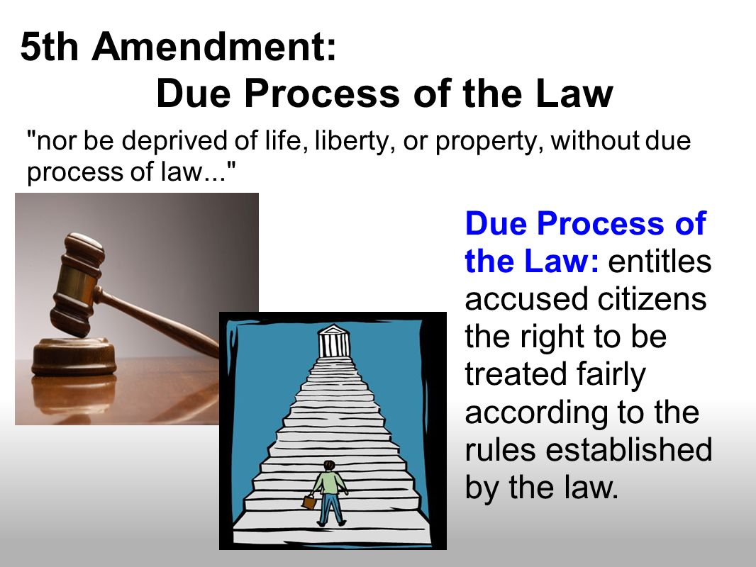 5th Amendment: Due Process of the Law