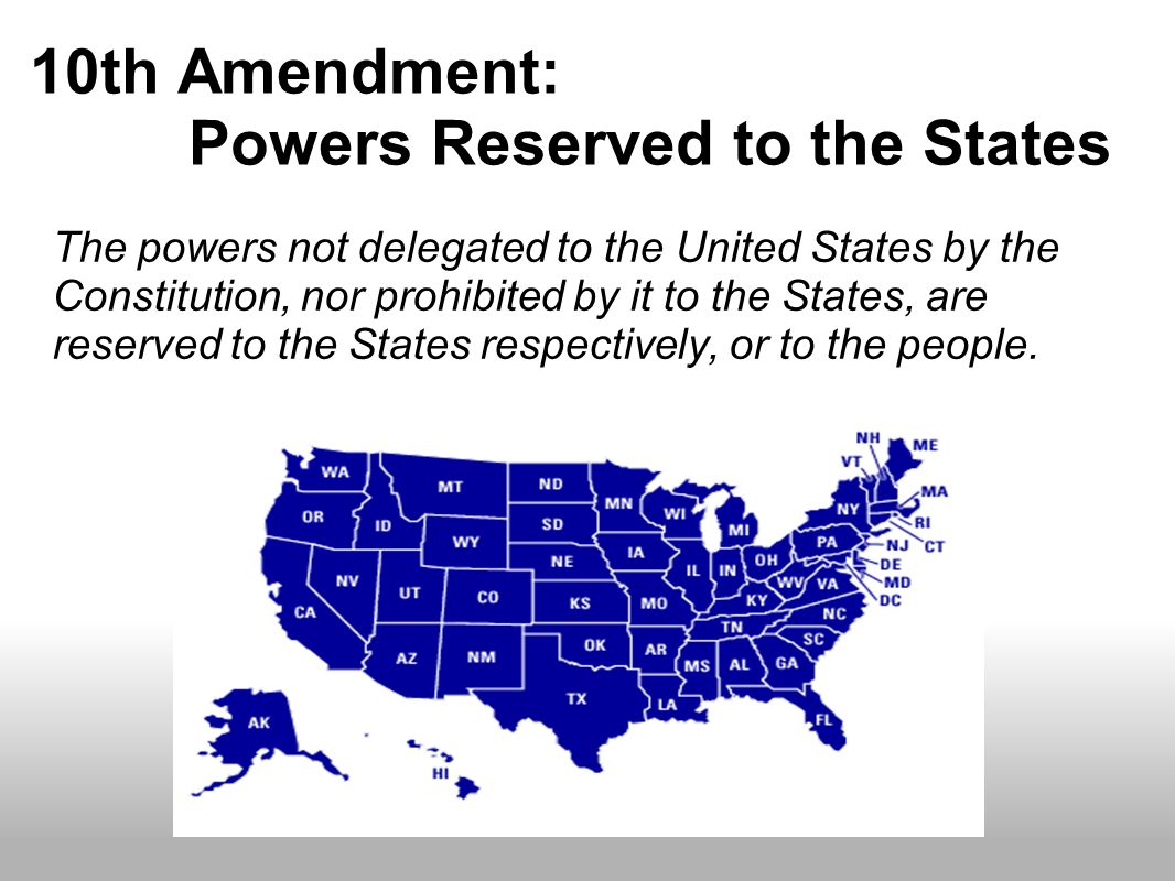 10th Amendment: Powers Reserved to the States