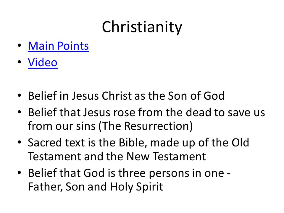 Christianity Main Points Video