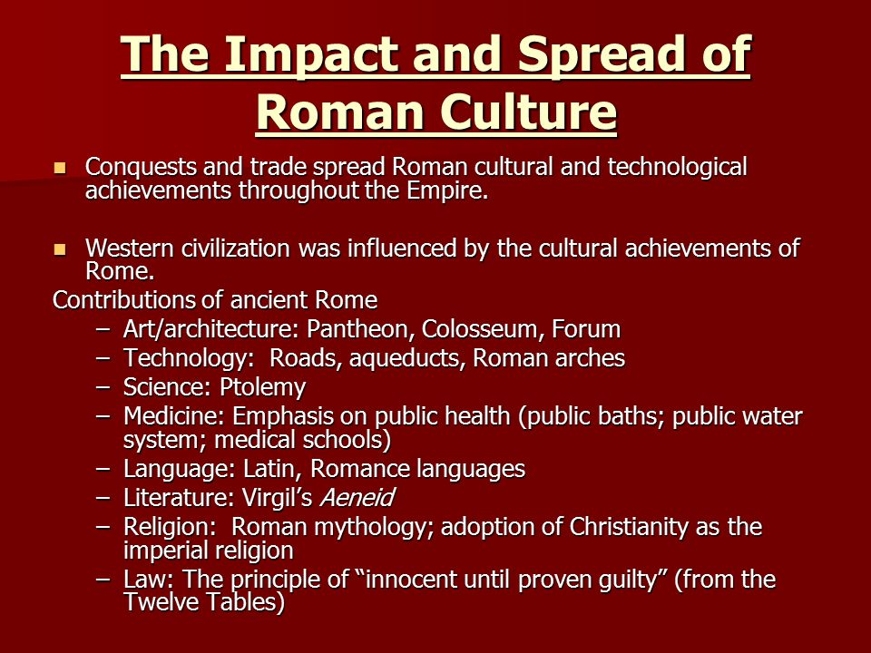in what ways have the romans influenced modern western civilization Continues to influence the development of each region to this day byzantine empire the byzantine empire emerged out of the eastern portion of the roman empire.