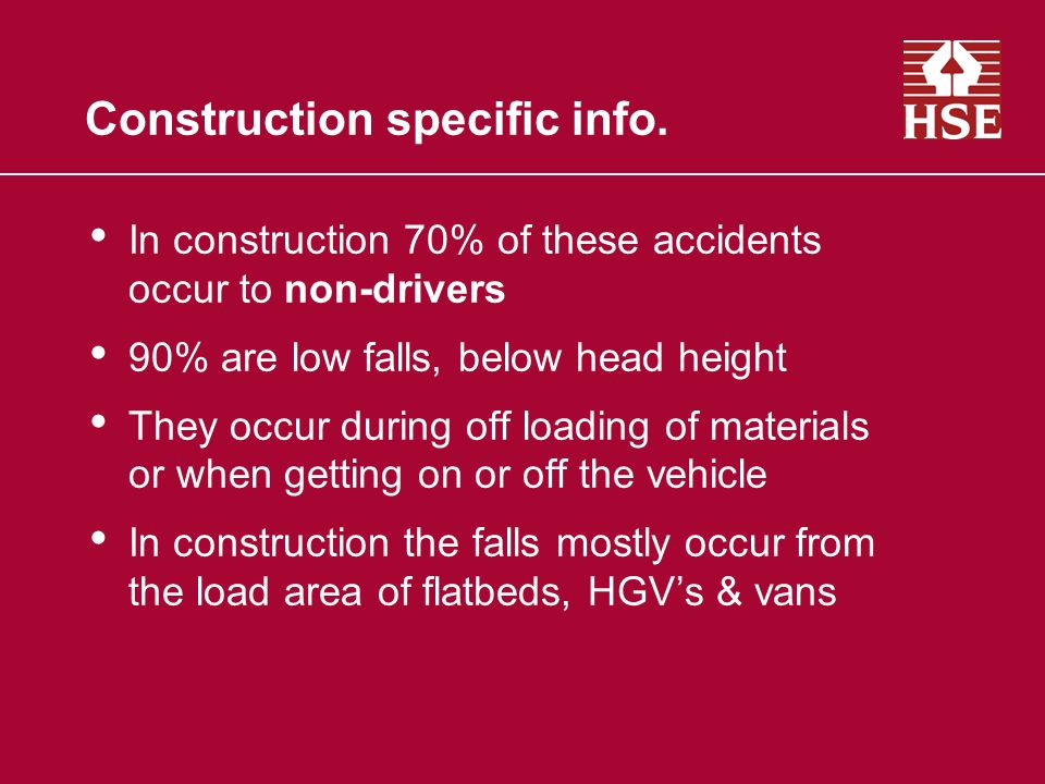 Construction specific info.
