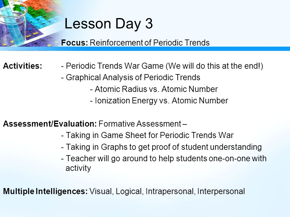 Going with the trends periodic trends ppt video online download 28 lesson day 3 focus reinforcement of periodic trends activities urtaz Gallery
