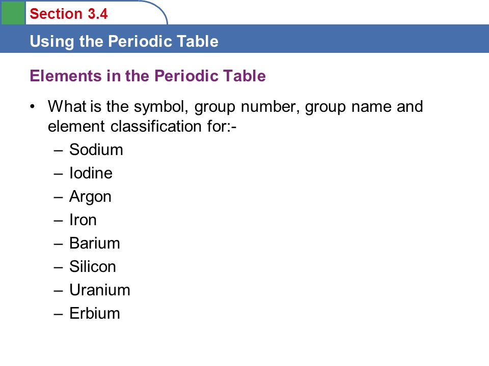 Objectives To Learn Some Features Of The Periodic Table Ppt Video