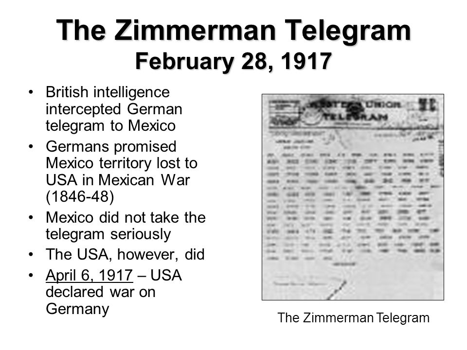 definition of zimmermann telegram