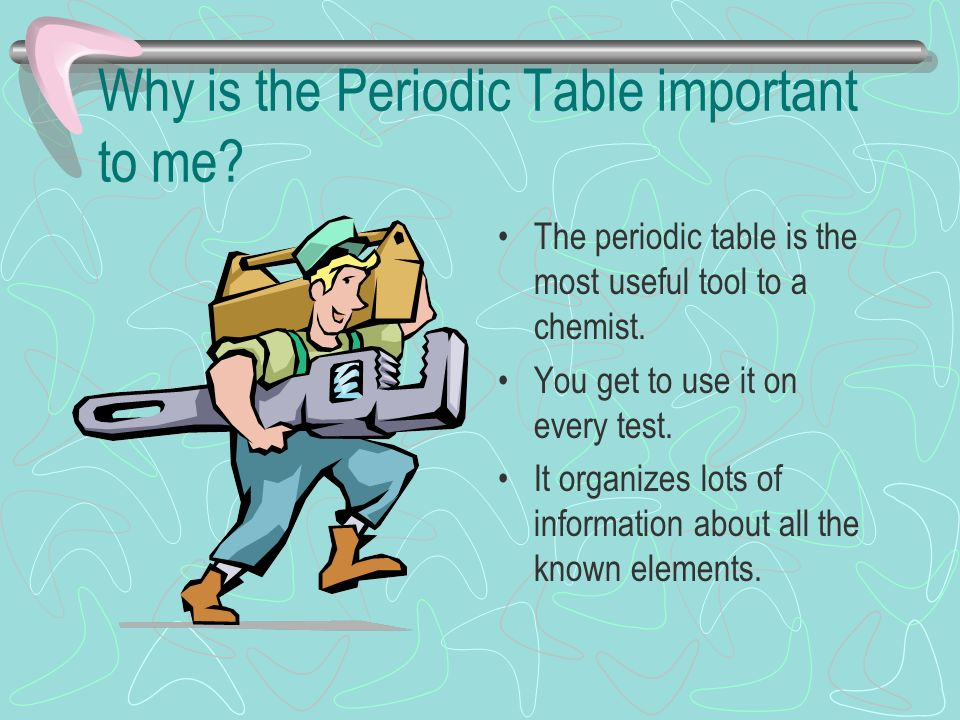 The periodic table ppt video online download why is the periodic table important to me urtaz Images
