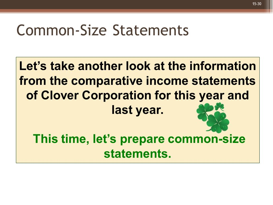 Common-Size Statements