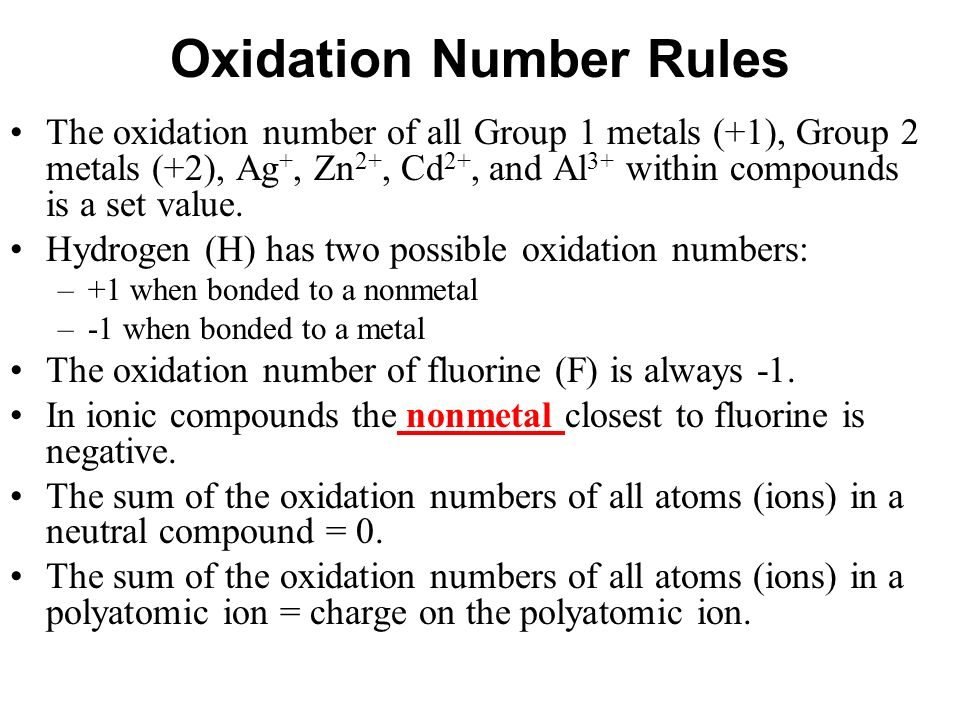 Chapter 10 Oxidation Numbers Ppt Video Online Download. Oxidation Number Rules. Worksheet. 20 2 Oxidation Numbers Worksheet Answers At Clickcart.co