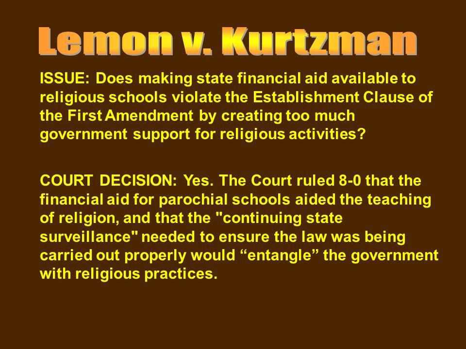 lemon vs kurtzman