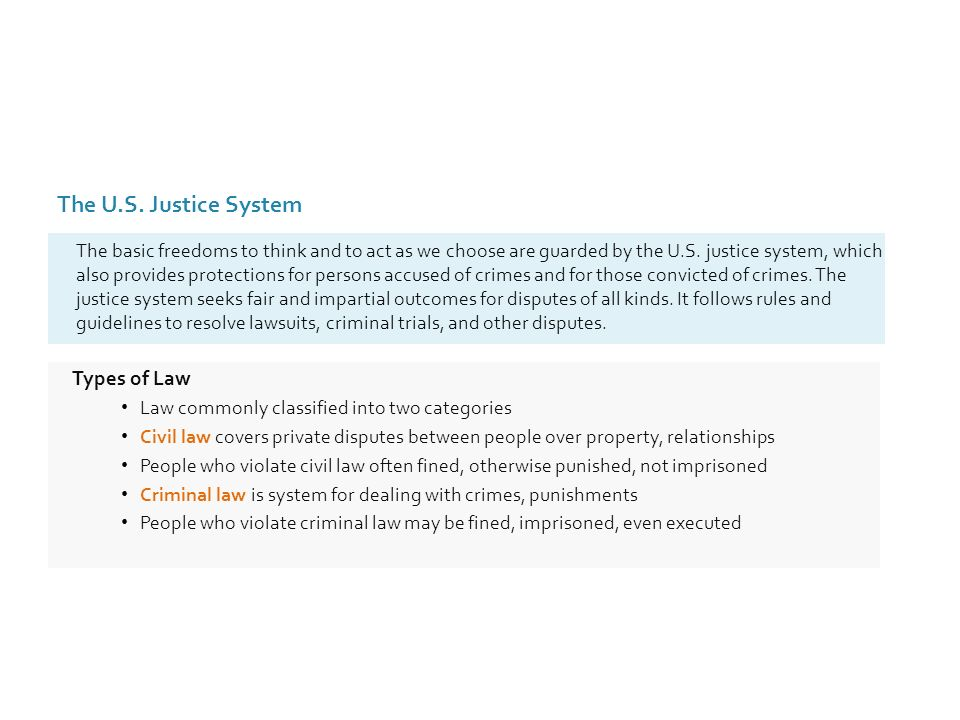 basic categories of law