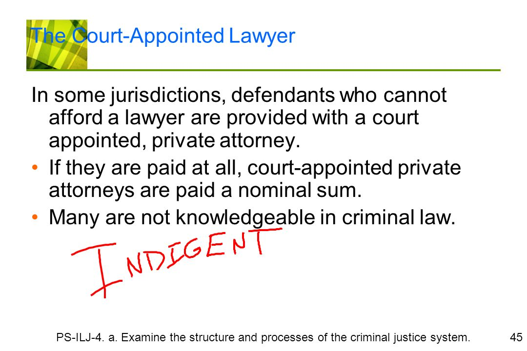 court appointed lawyer not helping