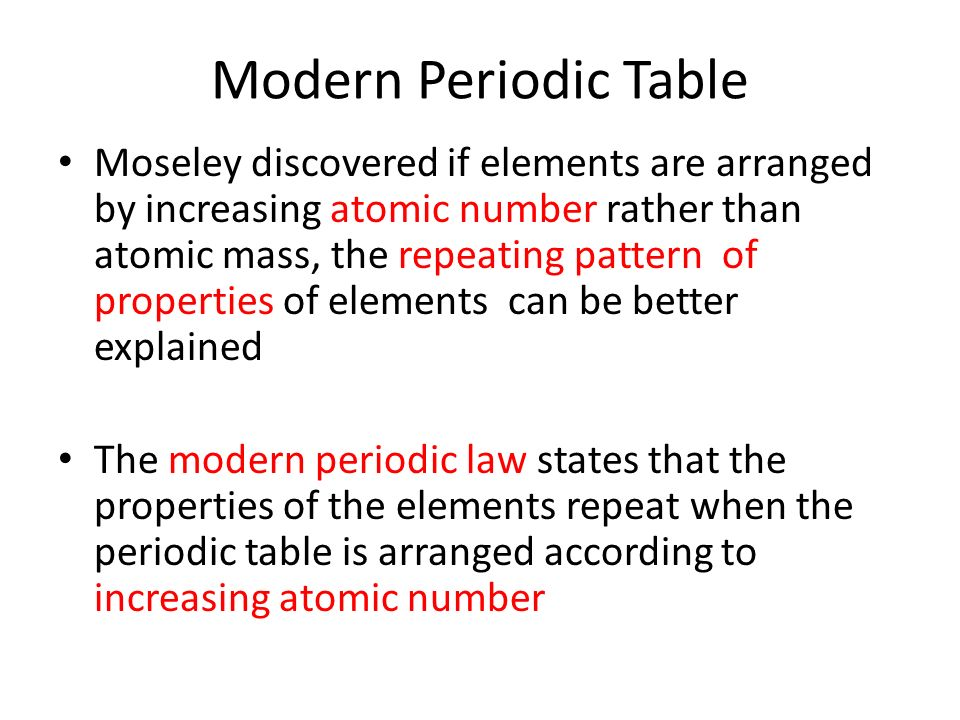 The Periodic Table Classification Of Elements Ppt Video Online