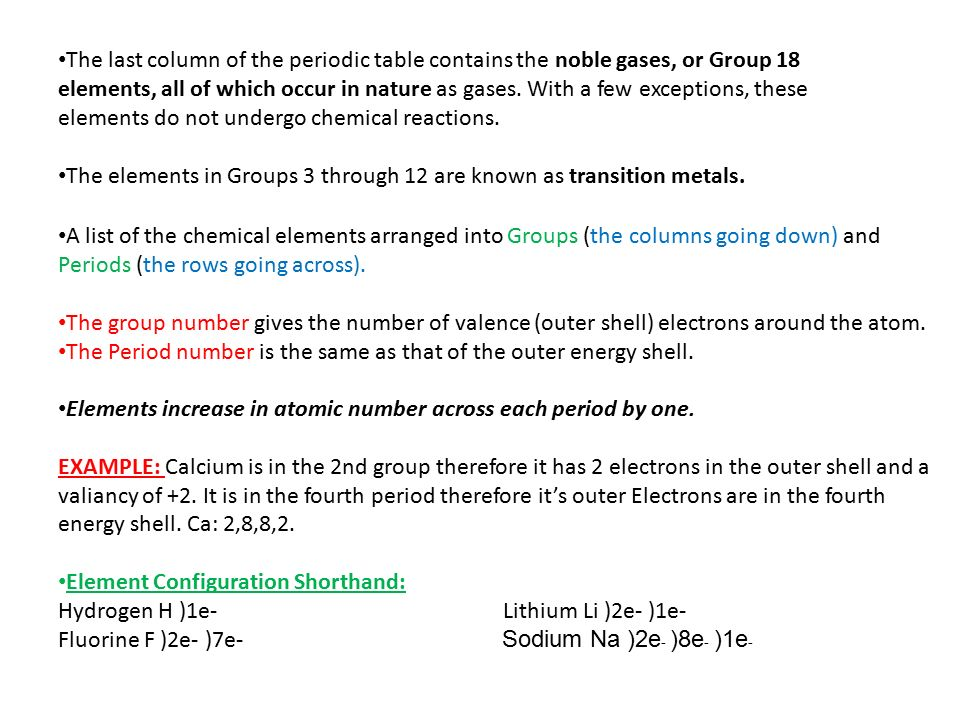 Periodic table lec ppt video online download the last column of the periodic table contains the noble gases or group 18 elements urtaz Gallery