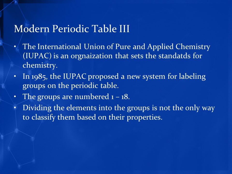 A tour of the periodic table ppt download modern periodic table iii urtaz Image collections
