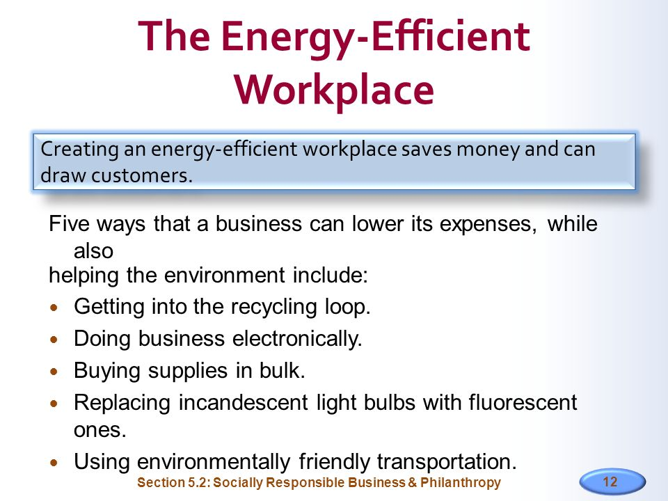 The Energy-Efficient Workplace