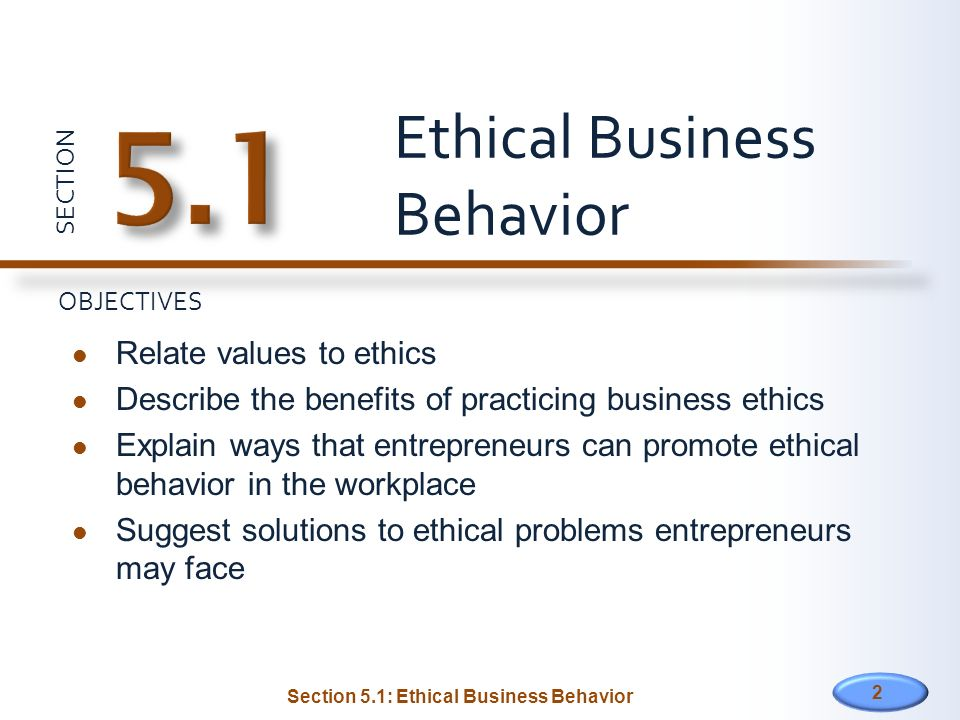 Ethical Business Behavior