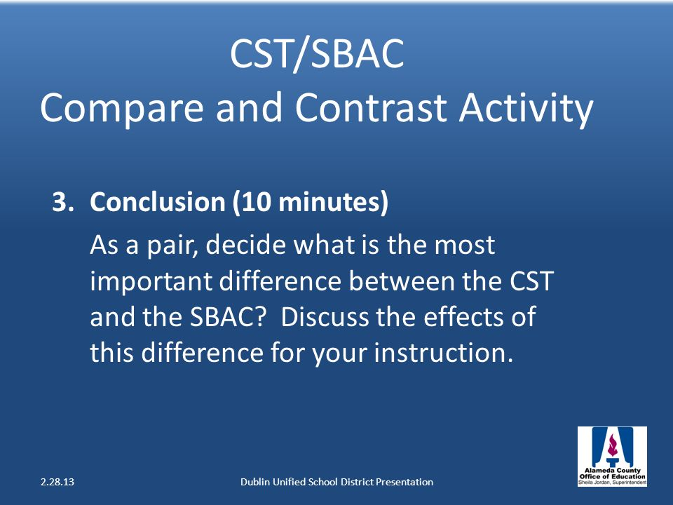 CST/SBAC Compare and Contrast Activity