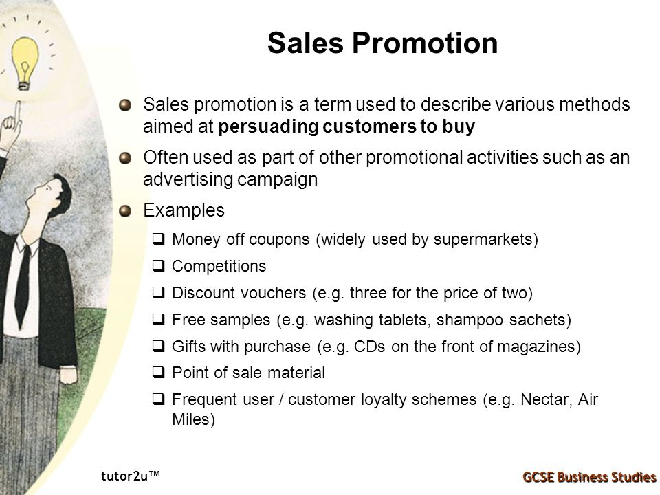 various methods of sales promotion