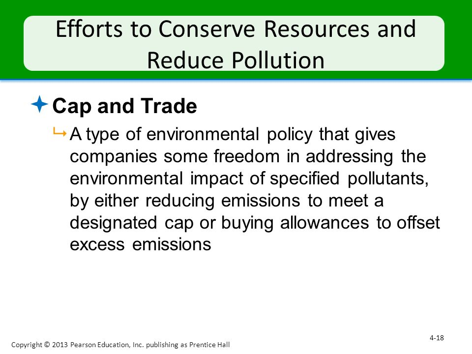 Efforts to Conserve Resources and Reduce Pollution