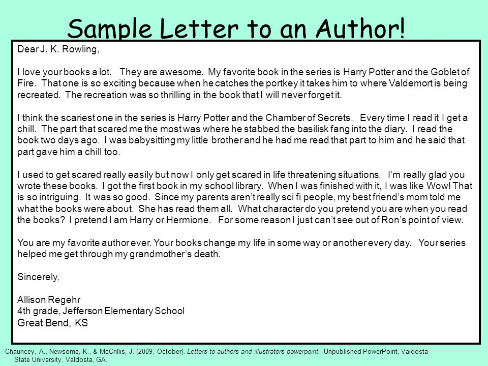 how to write a letter to an author example images letter format how to write a