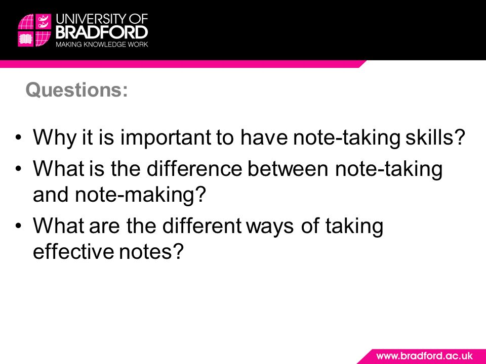 Note-taking and Note-making