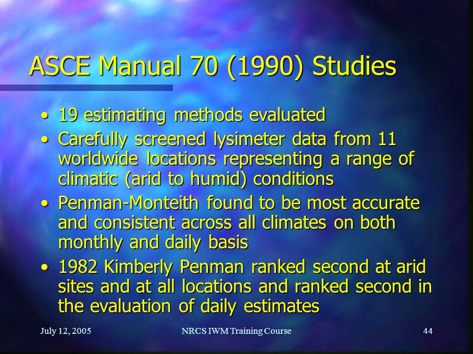 evapotranspiration concepts and irrigation water requirements ppt rh slideplayer com ASCE Loads Manual ASCE 7 Snow Load Map