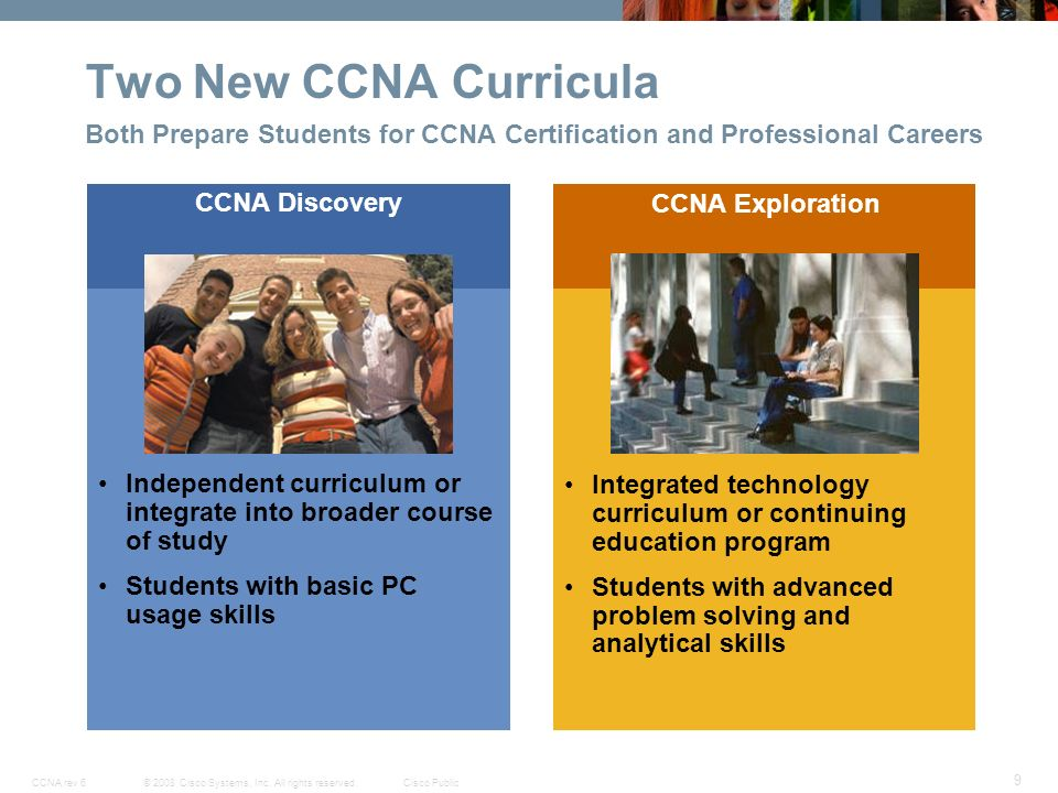 Cisco Networking Academy New CCNA Curricula - ppt download