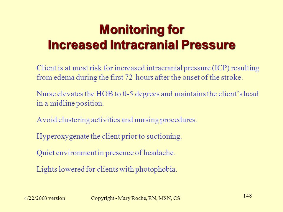 Monitoring for Increased Intracranial Pressure