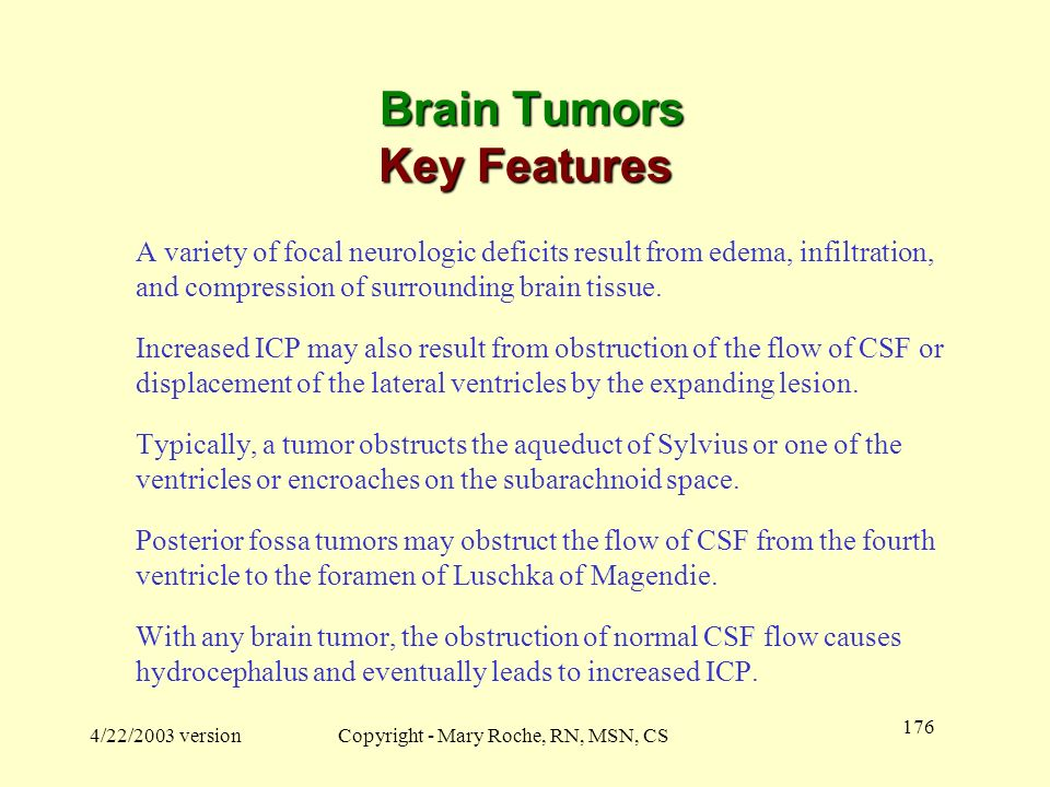 Brain Tumors Key Features
