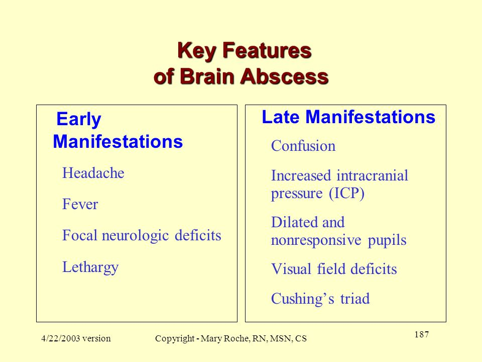 Key Features of Brain Abscess