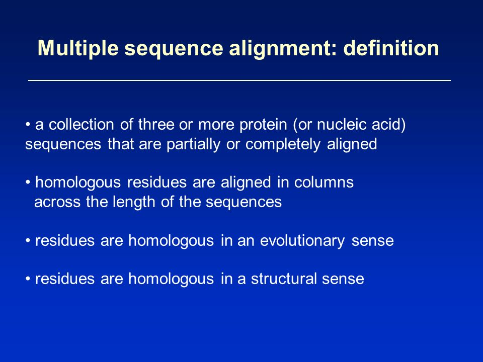 Multiple sequence alignments craig a. Struble, ph. D. Department of.