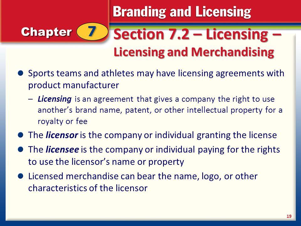 Branding Licensing 2 Branding Licensing 2 Section 71 Branding