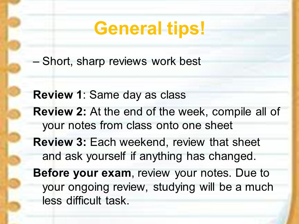 Study Skills Note-taking Memory Techniques Flashcards  - ppt