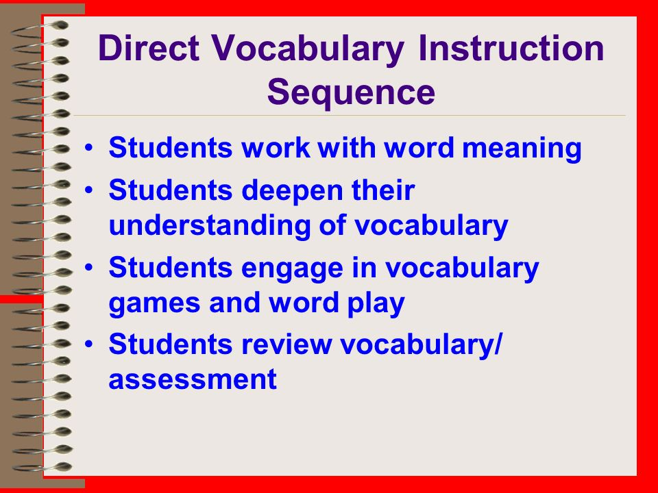 Learning Meaning Vocabulary Instruction For Elementary Students