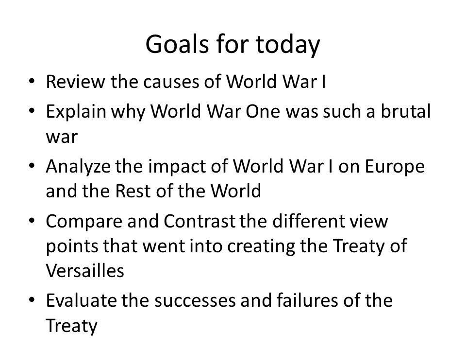 an overview of the causes for the world war one Also explains the historical and literary context that influenced world war i  overview world war i took  the fundamental causes of the war.