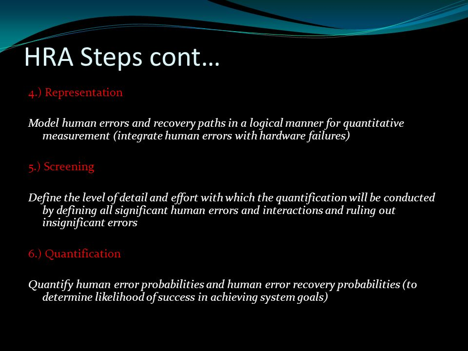Human Reliability Assessment Ppt Download