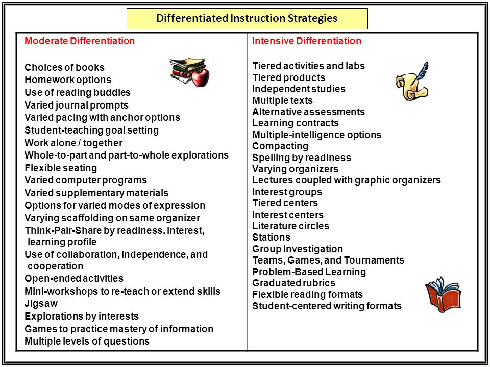 Differentiated Instruction Strategies Various Owner Manual Guide