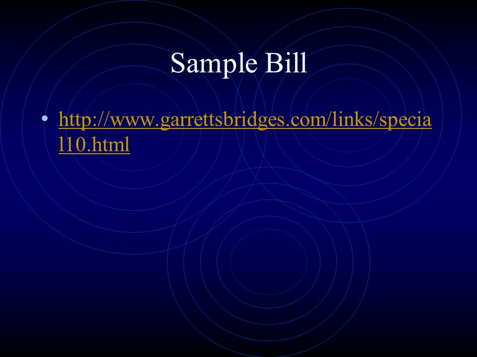 Sample Bill