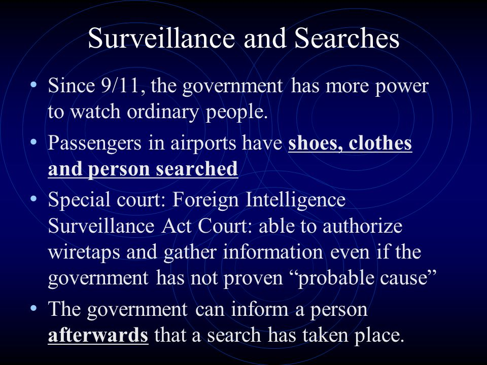 Surveillance and Searches