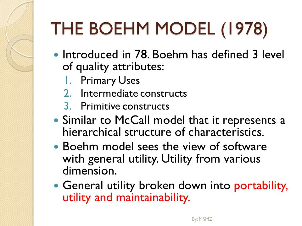 boehm software quality model